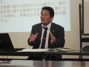講義する川野教授