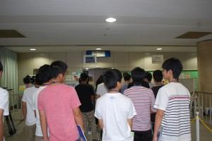 講座7 下関港国際ターミナルにて模擬出国