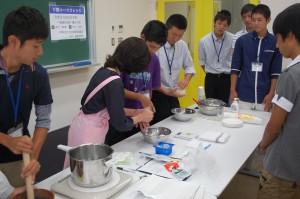 講座9 調理実習「豆腐白玉だんご」作り