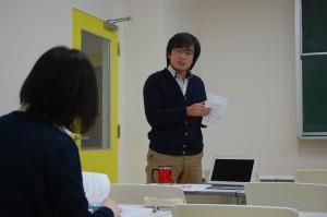 藤谷岳特任教員との討論の様子