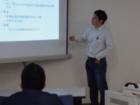 中川真太郎准教授との討論の様子