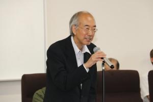 木村名誉教授のあいさつ