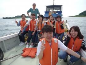 漁船で六連島1周