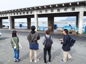 水産業のグループは漁港も見学