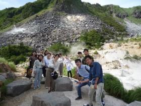 塚原温泉火口の視察